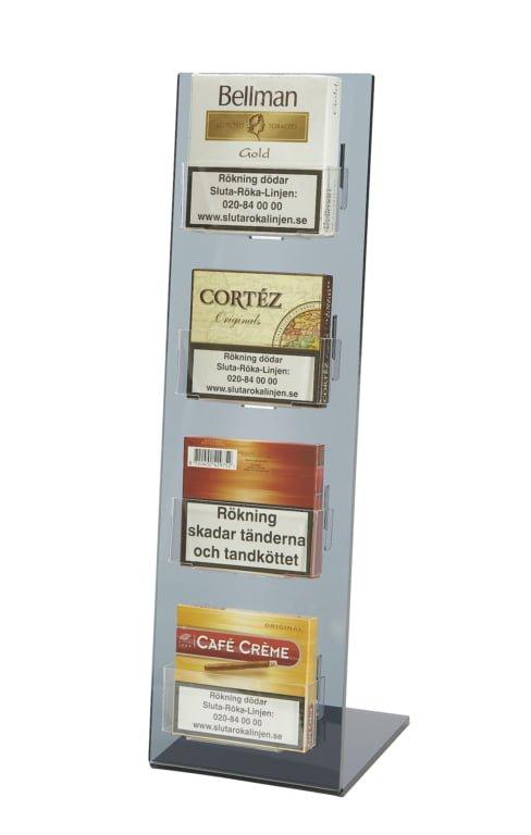 Cigarilldisplay av rökfärgad akryl