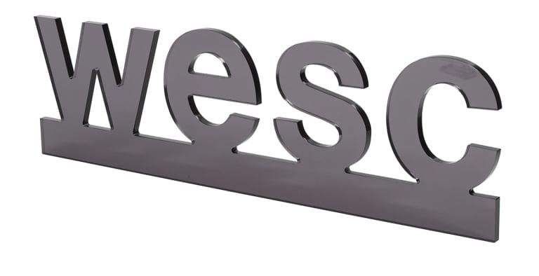 Laserskuren logga