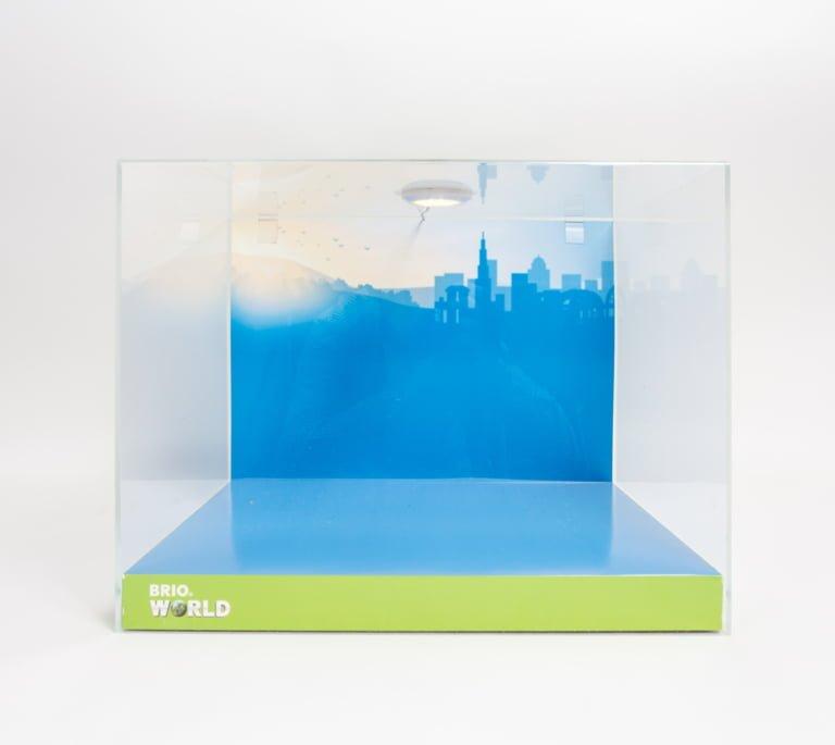 Diorama / plexihuv för leksaker